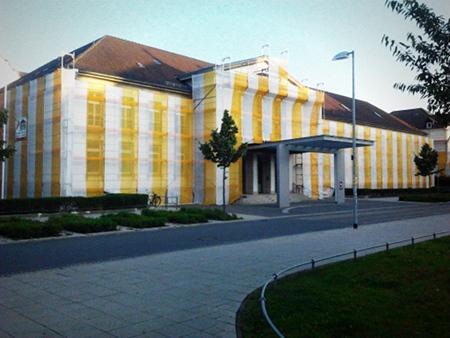 Bauarbeiten an der Niedersächsischen Staatskanzlei in Hannover