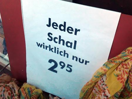Jeder Schal wirklich nur 2,95€