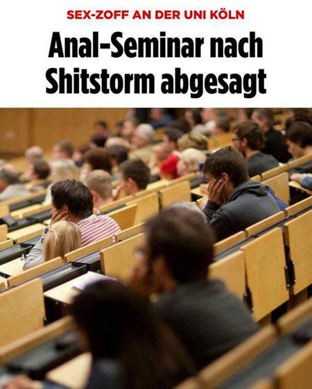 Sex-Zoff an der Uni Köln: Anal-Seminar nach Shitstorm abgesagt