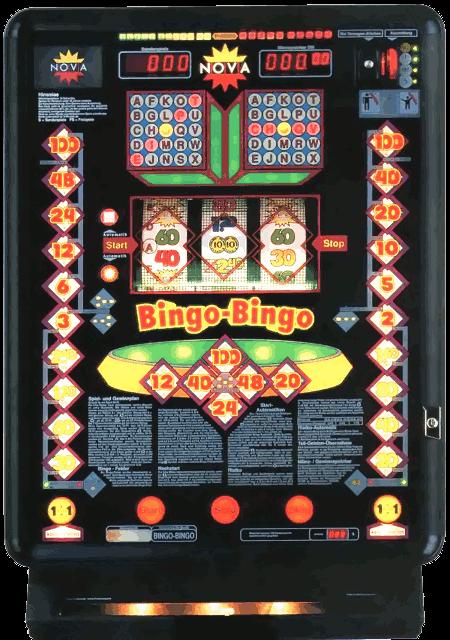 Bild des Nova-Geldspielgerätes Bingo-Bingo aus dem Jahr 1992