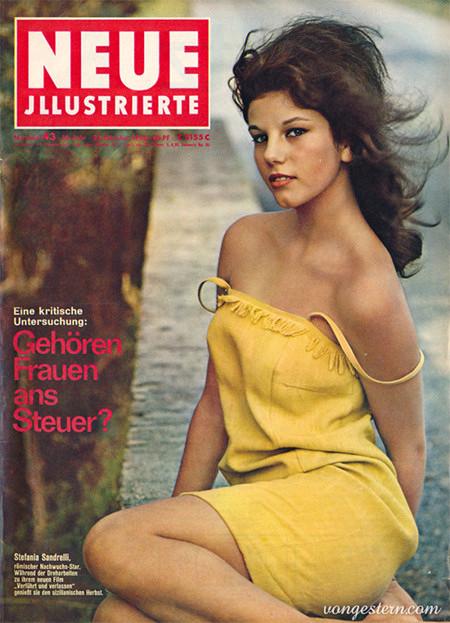 Titelseite der 'Neue Illustrierte', Ausgabe 43 aus dem Jahr 1963 mit der Titelstory: 'Gehören Frauen ans Steuer?'