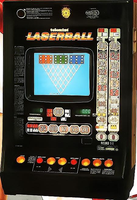 Geldspielgerät Telemint Laserball von NSM aus dem Jahr 1987