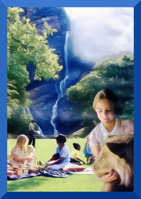 Illustration des Paradieses aus der Literatur der Zeugen Jehovas