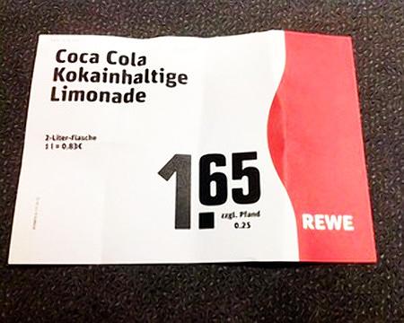 Coca Cola -- Kokainhaltige Limonade -- 2-Liter-Flasche 1,65 zzgl. Pfand