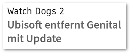 Watch Dogs 2: Ubisoft entfernt Genital mit Update