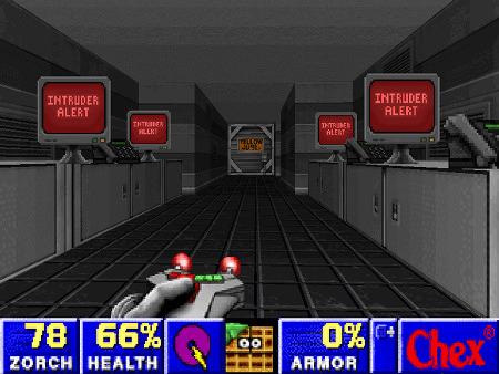 Intruder Alert -- Screenshot aus Chex Quest