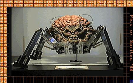 Foto eines Modells des Spider Mastermind aus Doom