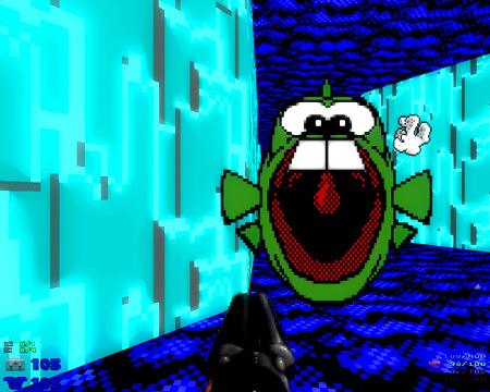 Dopefish in Level 32 von Doom 2 The Way Id Did