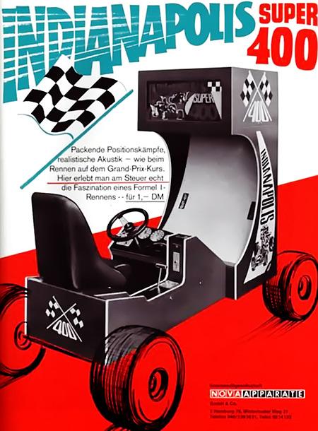 Indianapolis Super 400 -- Packende Positionskämpfe, realistische Akustik wie beim Rennen auf dem Grand-Prix-Kurs. Hier erlebt man am Steuer echt die Faszination eines Formel-1-Rennens für 1,- DM