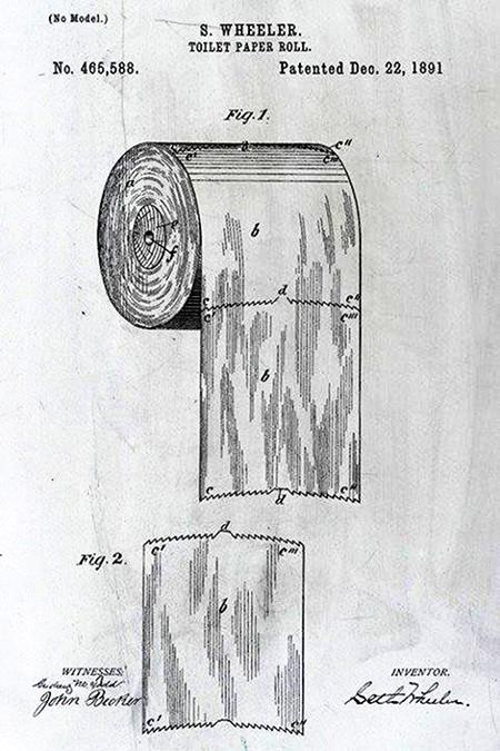 Patentanmeldung der Toilettenpapierrolle