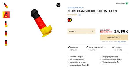 Deutschland-Dildo, Silikon, 14 cm, 24,99€