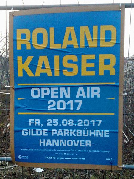 Roland Kaiser -- Open Air 2017 -- Fr. 25.08.2017 Gilde Parkbühne Hannover