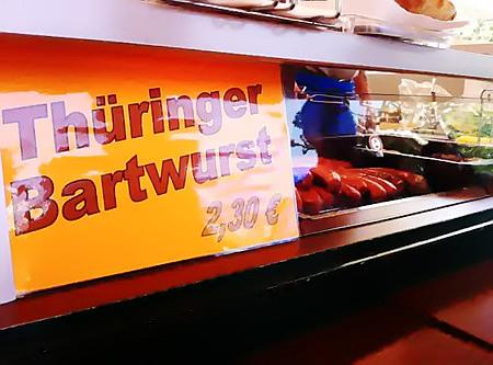 Thüringer Bartwurst 2,30€