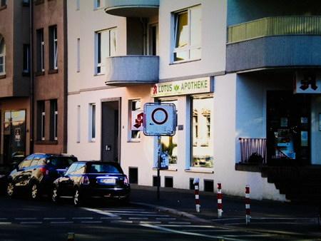 Verblichenes Verkehrsschild in der Stüvestraße, Hannover-Südstadt