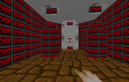 Doom-Levelausgang mit absurd vielen Exit-Zeichen