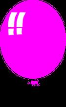 Ein pinkfarbener Luftballon