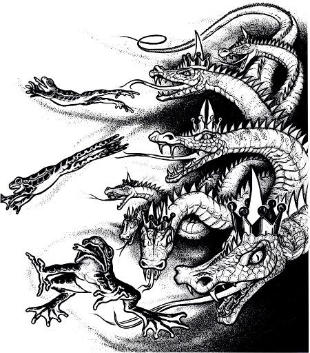 Illustration aus dem Offenbarungsbuch der Zeugen Jehovas aus den Siebziger Jahren