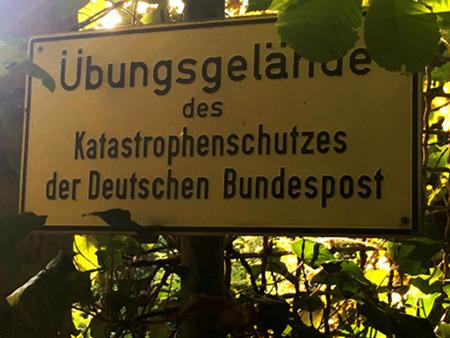 Übungsgelände des Katastrophenschutzes der Deutschen Bundespost