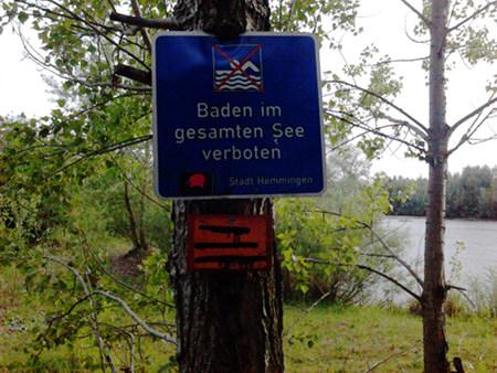 Baden im gesamten See verboten