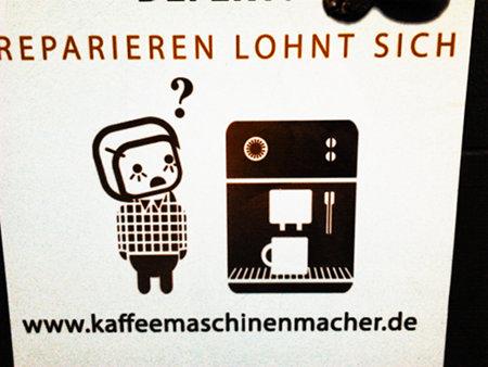 Werbung: Reparieren lohnt sich -- www.kaffeemaschinenmacher.de