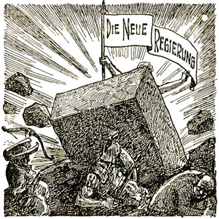 Die neue Regierung -- Werbung für ein Buch der Zeugen Jehovas aus dem Jahr 1931