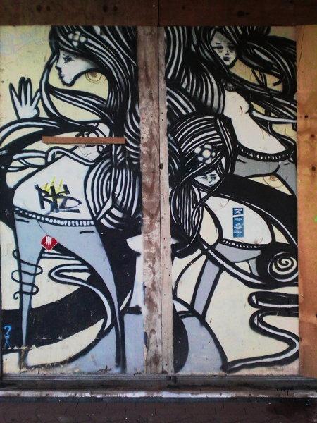 Graffito am Ihmezentrum