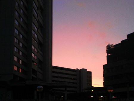 Ihmezentrum im Abendlicht