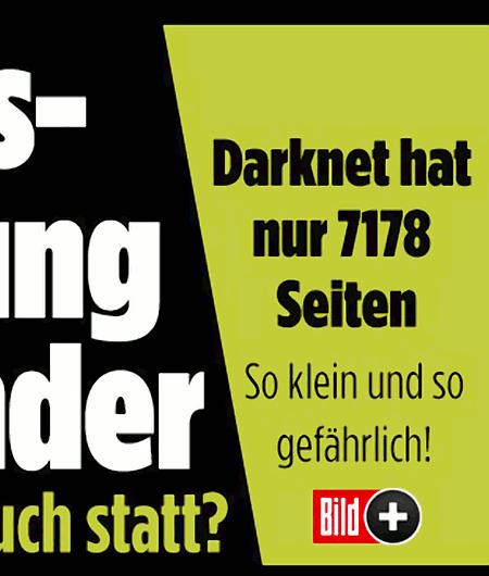 Darknet hat nur 7178 Seiten. So klein und so gefährlich!