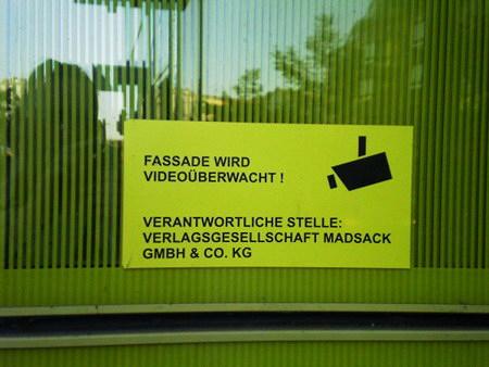 Fassade wird videoüberwacht! Verantwortliche Stelle: Verlagsgesellschaft Madsack GmbH & Co. KG