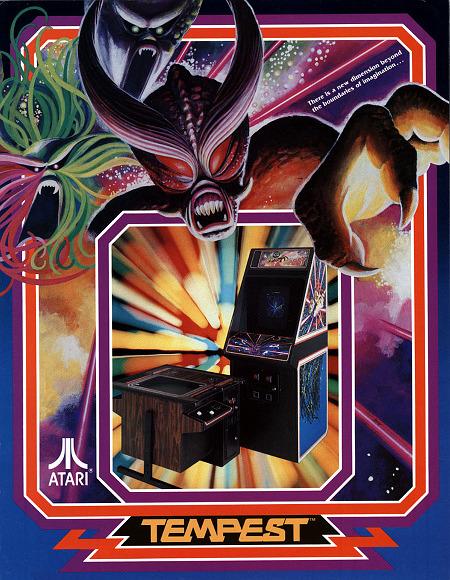 Werbung für das Atari-Arcardespiel 'Tempest' aus dem Jahr 1981