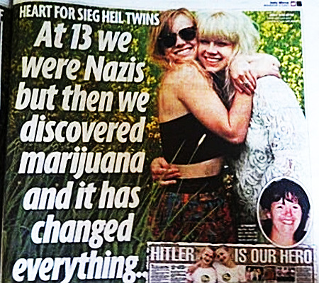 HEART FOR SIEG HEIL TWINS -- At 13 we were Nazis but then we discovered marijuana and it has changed everything...