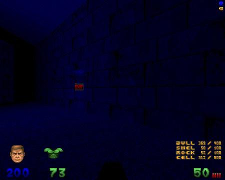 Secret Exit aus dem Level 15 'Bulls on Parade' aus dem sehr guten (meiner Meinung nach bis heute unerreichten) DooM-WAD 'Alien Vendetta' aus dem Jahr 2001. So hätte DooM 2 sein können... es ist tatsächlich Vanilla, läuft also mit der originalen DOOM2.EXE für MS/DOS aus dem Jahr 1994. Aber es ist nichts für Anfänger, denn jede Map ist schwierig. Im MAP14 bin ich siebzehnmal draufgegangen, unter anderem, weil ich mich mit meinen eigenen Raketen selbstfüsiliert habe.