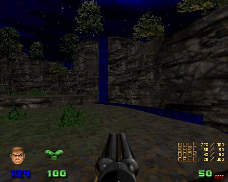 Screenshot aus den DooM-Levelset Valiant