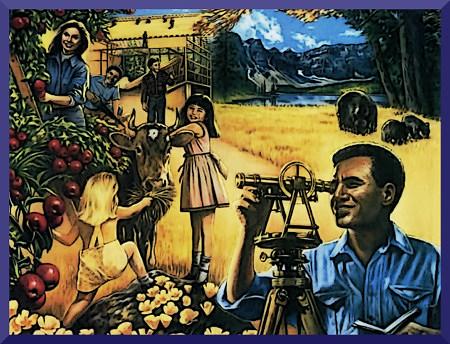 Unbeschreibliche Illustration aus der Literatur der Zeugen Jehovas