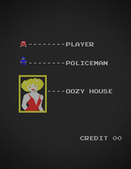 Screenshot aus dem Arcade-Spiel 'Swinging Singles' aus dem Jahr 1983.