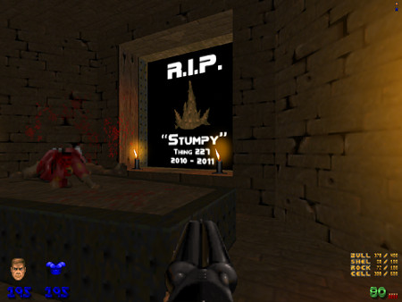 Easteregg aus dem DooM-WAD Jenesis: RIP Stumpy, Thing 227, 2010-2011