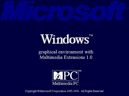 Bootscreen von Microsoft Windows 3.0 mit Multimedia Extensions 1.0