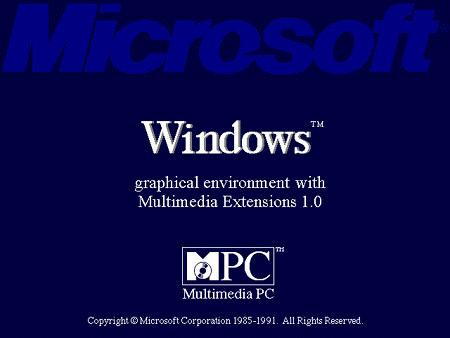 Bootscreen von Microsoft Windows 3.0 mit Multimedia Extensions 1.0