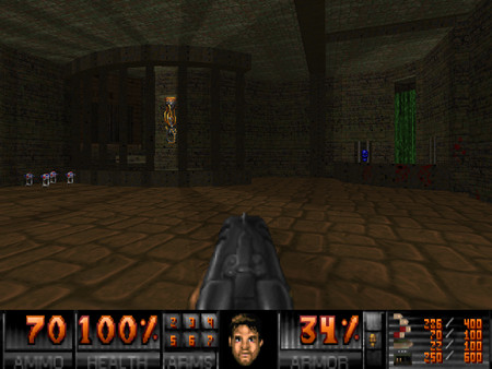 Screenshot des DooM-Mods Alien Vendetta, gespielt mit dem IWAD von Freedoom