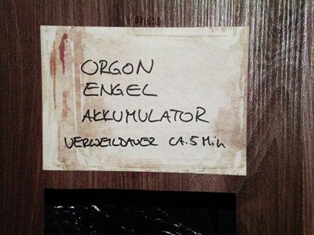 ORGON-ENGEL-AKKUMULATOR -- VERWEILDAUER CA. 5 MIN