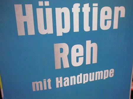 Hüpftier Reh mit Handpumpe