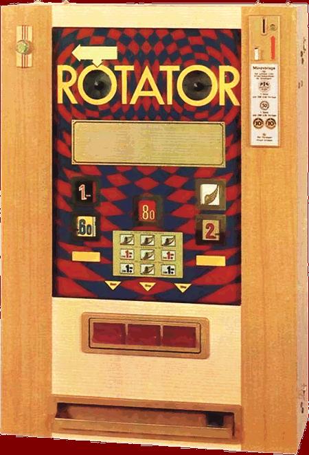 Geldspielgerät Rotator von Lindl&Co Gerätebau GmbH aus dem Jahr 1968