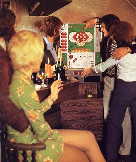 Werbung für das NSM-Geldspielgerät Rotamint Super Bingo aus dem Jahr 1973