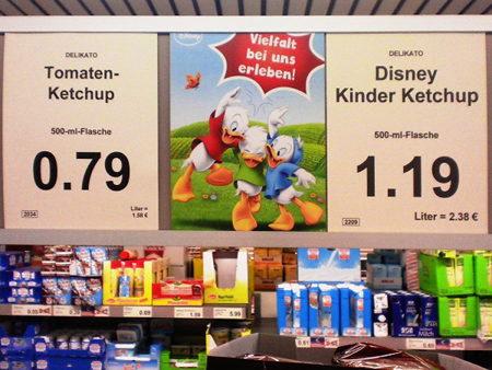 Delikato Tomaten-Ketchup 500-ml-Flasche 0,79€ -- Vielfalt bei uns erleben! -- Delikato Disney Kinder Ketchup 500-ml-Flasche 1,19€