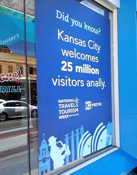 Did you know? Kansas City welcomes 25 million visitors anally.