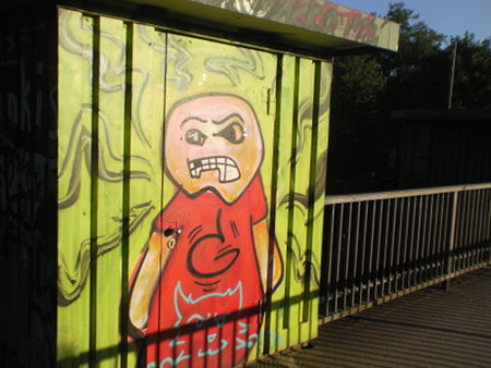 Graffito an der Wasserkunst in Hannover