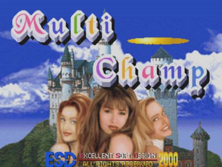 Animationsbildschirm des Arcade-Spieles Multi Champ aus dem Jahr 1999