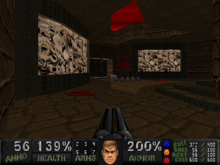 Screenshot DooM mit dem sehr guten WAD Plutionia Revisited Community Project