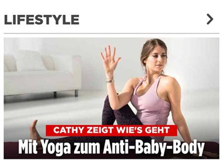 Cathy zeigt wie's geht: Mit Yoga zum Anti-Baby-Body