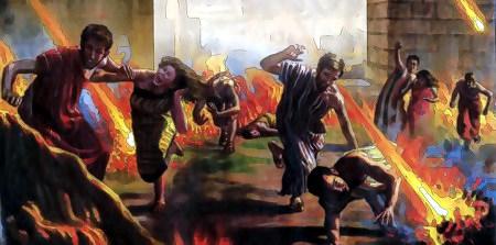 Illustration des Weltunterganges in einem Buch der Zeugen Jehovas